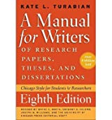 [(A Manual for Writers of Research Papers, Theses, and Dissertations: Chicago Style for Students and Researchers)] [Author: Kate L. Turabian] published on (April, 2013)