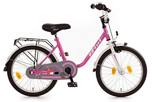 """Kinderfahrrad 18\"""" Zoll (=45,7cm) Bibi Pink Weiß"""