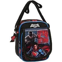 Warner Superman-Batman Bolso Bandolera, 2.85 Litros, Color Gris