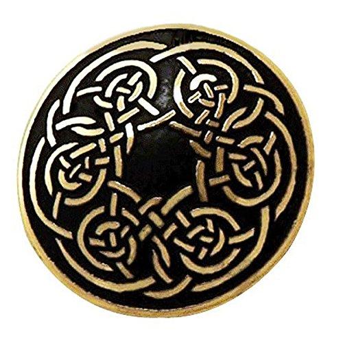 Handcrafted ottone inciso, Celtic Knot, Rotondo Spilla Moda, Simboleggia Never-Ending Amore
