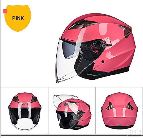 MZ Vollgesichts Motorrad Motorradhelm Road Legal + Free Extra Visier,Pink,XL