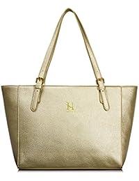 Women Pu Leather Handbag, Lightweighttop Handle Hobo Shopping Shoulder Tote Bag Champagne By Hikker-Link