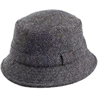 393ef1b2fb3 Failsworth Hats Grouse Harris Tweed Bucket Hat - Blue Mix LARGE