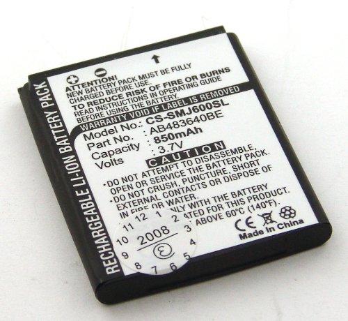 Akku kompatibel mit Samsung B3210 Corby TXT, B3310, SGH-F110 miCoach, SGH-J600, SGH-M600