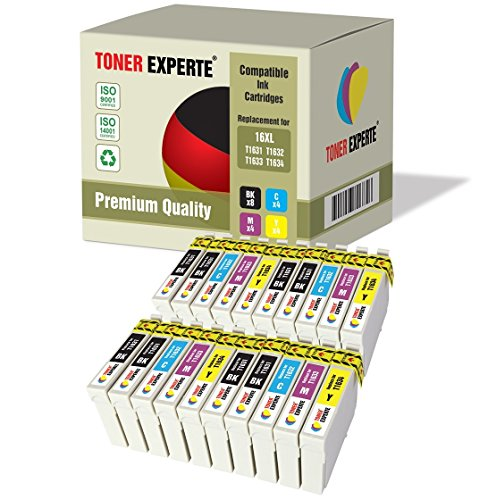 Kit 20 XL TONER EXPERTE Cartucce d'inchiostro compatibili con Epson 16XL Workforce WF-2010W, WF-2510WF, WF-2520NF, WF-2530WF, WF-2540W, WF-2540WF, WF-2630WF, WF-2650DWF, WF-2660DWF, WF-2750DWF