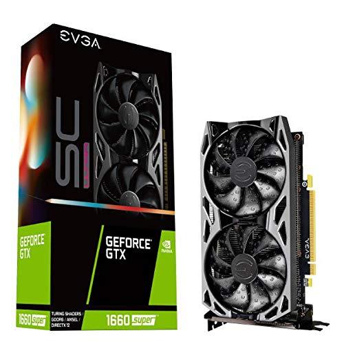 EVGA GeForce GTX 1660 SUPER SC ULTRA GAMING, 06G-P4-1068-KR, 6GB GDDR6, Dual Fan, Metal Backplate