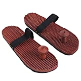 Shri Anand Unisex Craftsman Wooden Relaxing Acupressure Foot/Feet Massager Slippers - Brown(Standard Size)(Size 7)