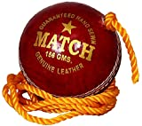 #9: Tima Match Red Leather Practice Hanging Cricket Ball