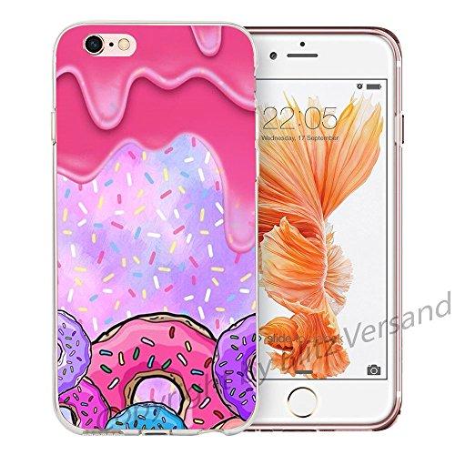 Blitz® LIPS motifs housse de protection transparent TPE caricature bande iPhone Artiste M16 iPhone 7PLUS Donut Dream M3