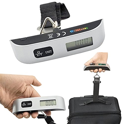 SOSA 50KG PORTABLE HANDHELD ELECTRONIC DIGITAL LCD TRAVEL LUGGAGE WEIGHING SCALE