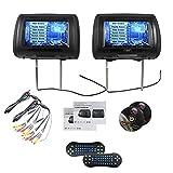EinCar TDD998-BK Paar 9 Schwarz-Auto-DVD / USB-Kopfstütze Monitore mit SONY Laser Lens 2 Wireless-Game-Controller