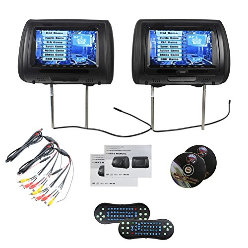 EinCar TDD998-BK Paar 9 Schwarz-Auto-DVD / USB-Kopfstütze Monitore mit SONY Laser Lens 2 - Dvd-player Sony Auto,