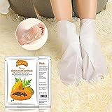 Fuß Peeling Maske Fußmaske Hornhautsocke, Colorful (TM) Entfernen abgestorbene Haut Fuß Maske Peeling Nagelhaut Ferse Fußpflege Anti Aging (Papaya)