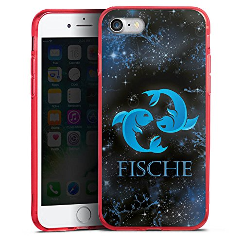 Apple iPhone 7 Silikon Hülle Case Schutzhülle Sternzeichen Fische Astrologie Farbe Astrologie