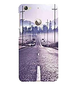 For LeEco Le 1s :: LeEco Le 1s Eco :: LeTV 1S Road, Brown, Highway, Beautiful Pattern, Printed Designer Back Case Cover By CHAPLOOS