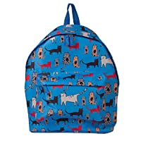 BiggDesign Cats in Istanbul Backpack, Polyester Fabric, School Bag, Adjustable Shoulder, Zipped, Blue, 43 cm