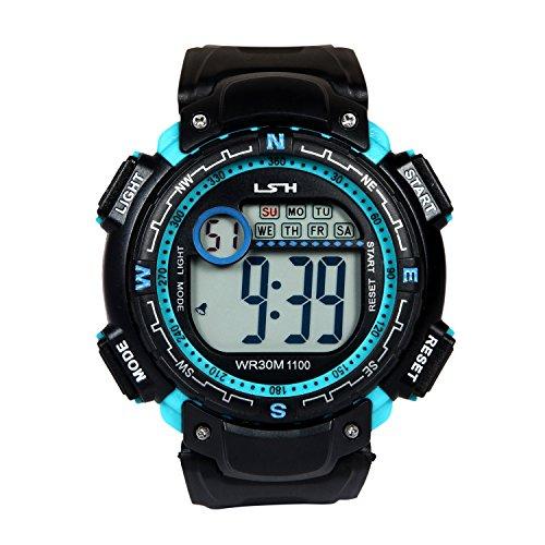 Elios Outdoor Multifunction Digital Waterproof Sports Watch with Alarm / Stop Watch / Calendar & Backlight for Men and Boys EL-LSH-03