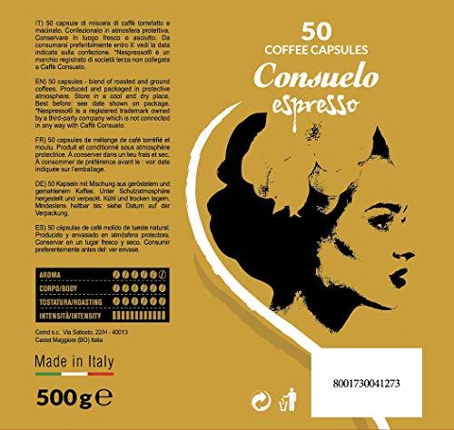 Consuelo   Nespresso* Compatible Espresso Capsules - Supremo, 50 capsules