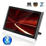 Roboraty Poggiatesta Monitor Auto, Connessione WiFi Bluetooth Lettore HD da 16 Pollici, Supporto 4K 1080P / HDIM/USB/SD/TF/FM, Supporto Disco Rigido Esterno da 1 TB,Black