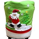 Lalang Weihnachten Stuhlhusse für Weihnachtstisch Dekoration (Weihnachtsmann)