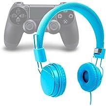 DURAGADGET Auriculares Estéreo Para Playstation 4 / 3 - En Azul Con Micrófono / Cable De 2 m