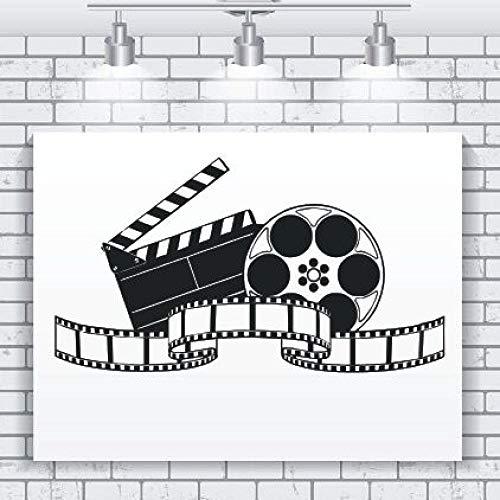 WWYJN Vinyl Wall Decal Filming Art Movie Wall Sticker Cinema Decoration Modern Design Film Wallpaper Movie Film Show Wall Murals Gray 104x57cm (Jurassic Park-lkw)