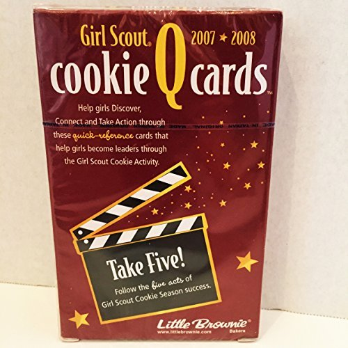 Girl Scout - 2007 * 2008 - Cookie Q Cards - Take Five! Follow the Five Acts of Girl Scout Cookie Season Success by Little Brownie Bakers -