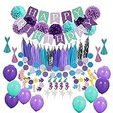 SWNKDG Decoraciones para Fiestas de Sirenas, Artículos para Fiestas y artículos para Fiesta de cumpleaños Muy completos, Fiesta de Disfraces, (78 Piezas)