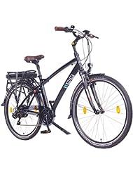 NCM Hamburg 2016,28 Zoll Elektrofahrrad Herren/Damen Unisex Pedelec,E-Bike,Trekking Rad, 36V 250W 14Ah Lithium-Ionen-Akku mit PANASONIC Zellen, matt schwarz