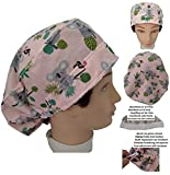 Scrub hat theatre cap KOALAS for Long Hair with sweatband ajutable to your liking Surgery Nurse Veterinary Dentist Doctor