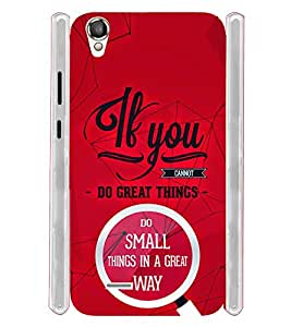 Great Things Quotes Typography Soft Silicon Rubberized Back Case Cover for Xolo A550S IPS
