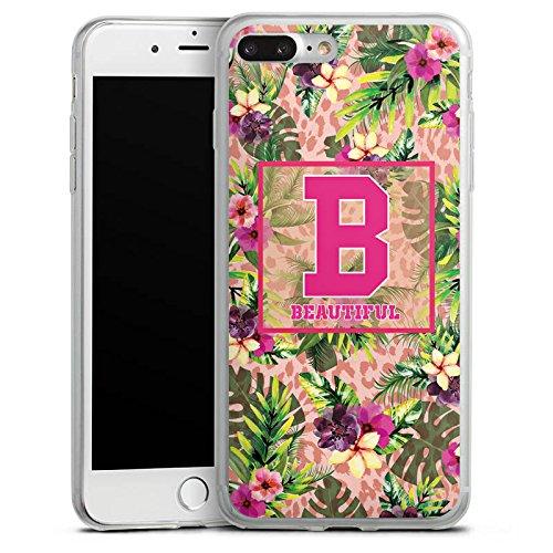 Apple iPhone 8 Slim Case Silikon Hülle Schutzhülle College Beautiful Blumen Silikon Slim Case transparent