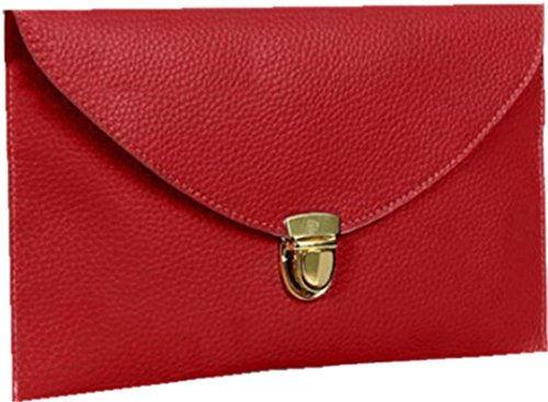 Ardisle signore In Pelle Style sera della busta del sacchetto di frizione delle donne di nozze borsa catena (Red)
