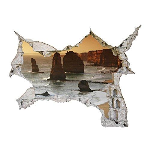 Bilderwelten 3D Wandtattoo - Die zwölf Apostel von Australien - Quer 3:4, Größe: 60cm x 80cm