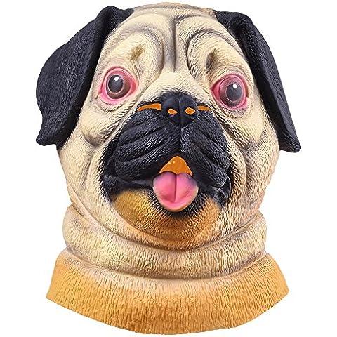 Halloween Máscara Perro Disfraz Animal Fiesta para Adultos