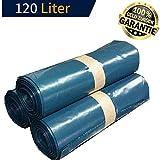 KLINOO Extra Starke Müllbeutel 120 L - Reißfeste Müllsäcke XXL - 25 STÜCK je Rolle - Stabile Mülltüten blau für Haushalt, Baustelle und Gastronomie - Abfallsack (4 Rollen)