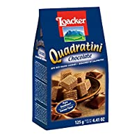 Loacker Quadartini Chocolate Wafers, 125 g (Pack of 1)