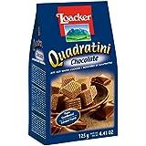 loacker Quadratini Chocolate - Bite Size Wafer Cookies -125Gms - 100% Veg
