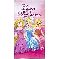 Disney Toalla de baño de algodón de Princesa niñas Secado rápido, ultrasuave, ...