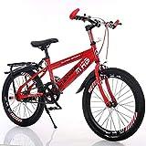 Kids Bikes 20 Zoll Kinder Fahrrad High Carbon Steel Jungen Mädchen Mountainbike 6-12 Jahre Alten Grundschule Fahrrad Single Speed (Farbe : Red)