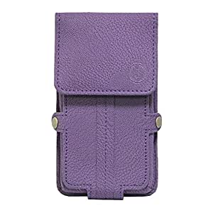 Jo Jo A6 G8 Series Leather Pouch Holster Case For Alcatel One Touch Pixi 4(4) Purple