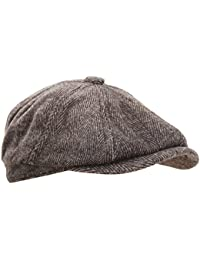 Universal Textiles Mens 8 Panel Wool Blend newsboy Cap