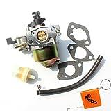 HURI Carburateur et Filtre à Essence pour Honda HR194 HR195 HR214 HRA214 HR215 HRA215 HR216 HRA216 HRC216 GXV140 GXV120 Carb Remplacer 16100-ZE6-W01 / 16100-ZG9-803