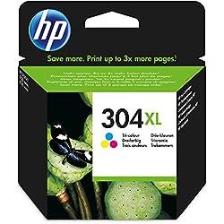 Hewlett Packard 304XL Tri-Colour Original, Cartucho de tóner adecuado para DJ3720, Multicolor (amarillo, magenta, cian)