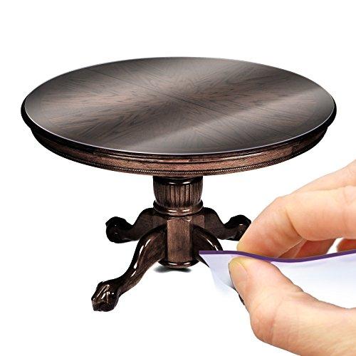 Tischfolie Tischschutz PVC Helltransparent Tischdecke 2mm Rund 120cm