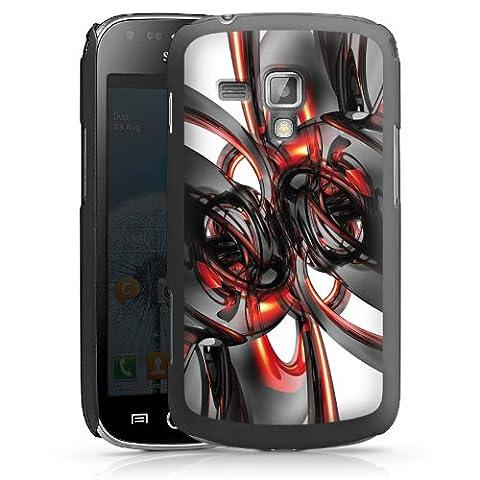 Samsung Galaxy S Duos Hülle Schutz Hard Case Cover Strudel Lack Glanz