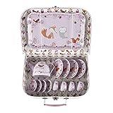 Süßes Teegeschirr 'Tiere des Waldes' in einem Koffer aus Hartkarton