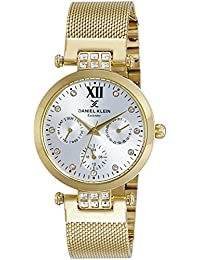 Daniel Klein Analog Gold Dial Women's Watch-DK10683-1