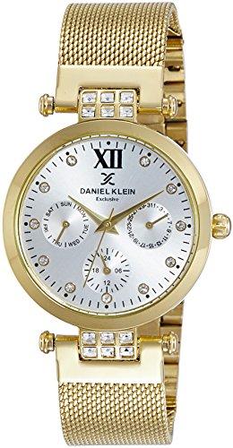 Daniel Klein Analog Gold Dial Women's Watch-DK10683-1 image