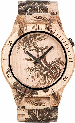 WEWOOD Reloj de hombre - Allium Print Palm Beige